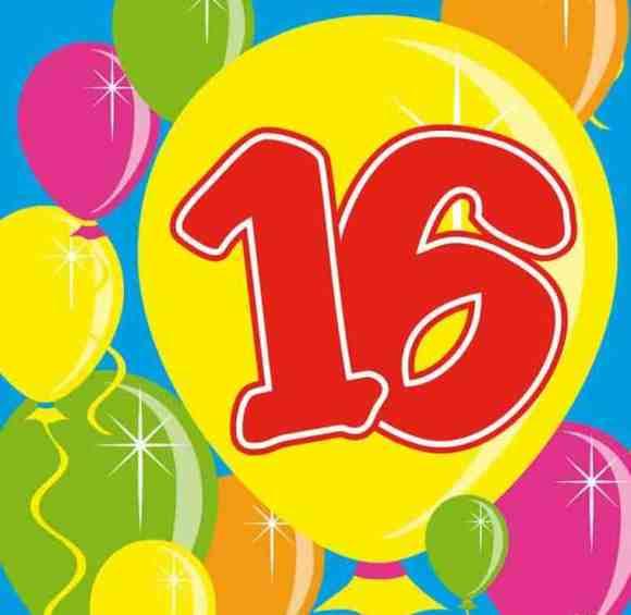 Днем рождения, картинки на 16 лет девочке
