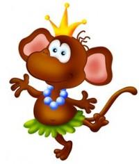 Поздравления с Новым Годом от Обезьяны в картинках, обезьяна королева года
