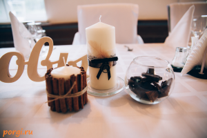 свечи, шоколад, корица