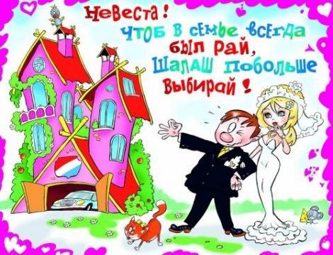 Шуточный плакат на свадьбу
