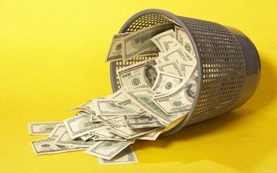 корзина с денежками