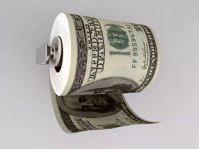 туалетная бумага с купюрами