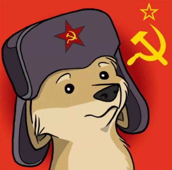 собака СССР, в ушанке