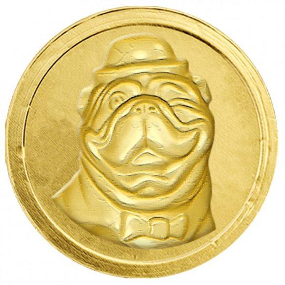 шоколадная монета собачка
