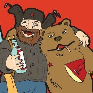 мужик с медведем и балалайкой