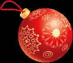 красный елочный шар