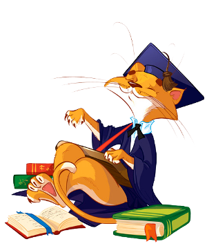 Поздравление с Новым Годом от Кота ученого