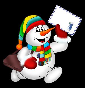 Поздравление с Новым Годом от Снеговика
