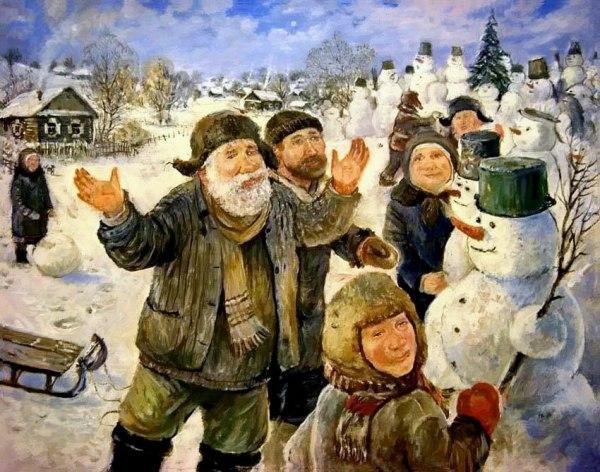 Картина художника Леонида Баранова