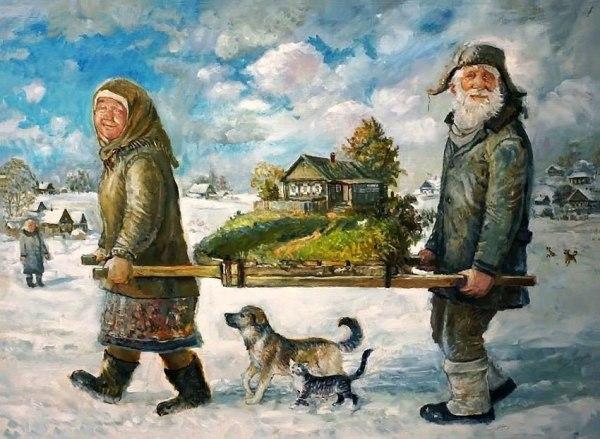 Поздравляем с Новым Годом пожилых