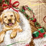 ретро рисунок собака