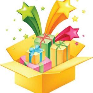 сценка с вручением подарочков