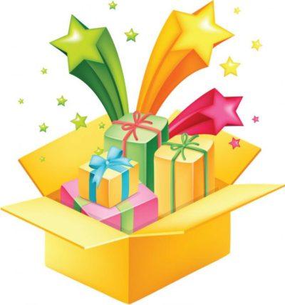 сценка с вручением подарочков женщине