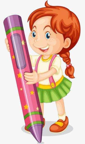 девочка Анжелика и волшебный карандаш