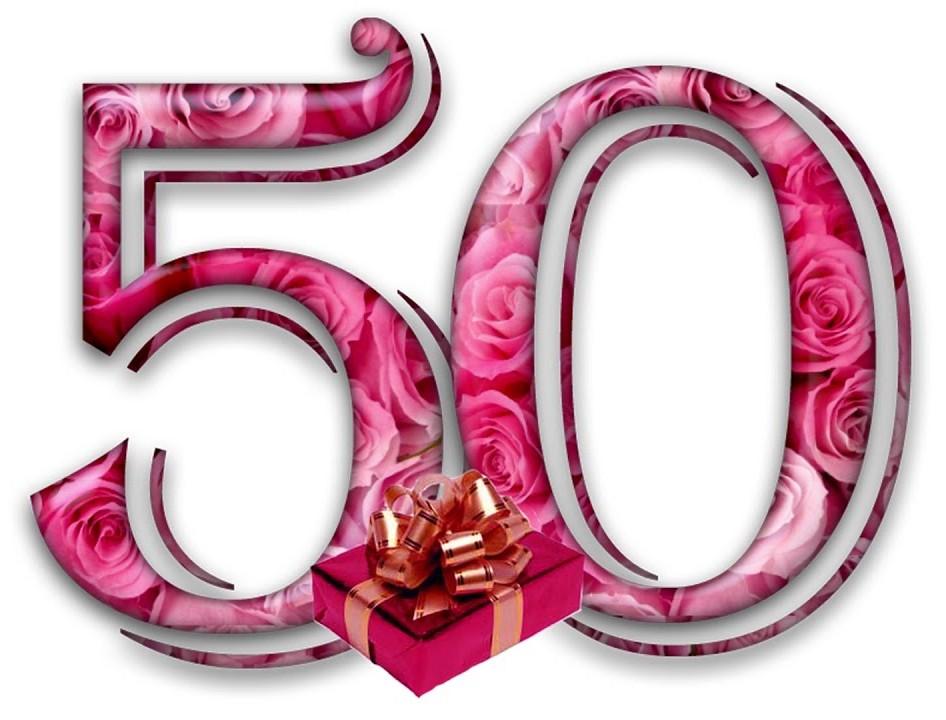 Открытки на 50 летие для фотошопа