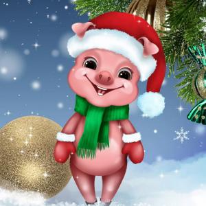 сценарий пьесы на Новый Год свиньи детям с музыкой