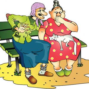 сцекна про бабушек и модницу