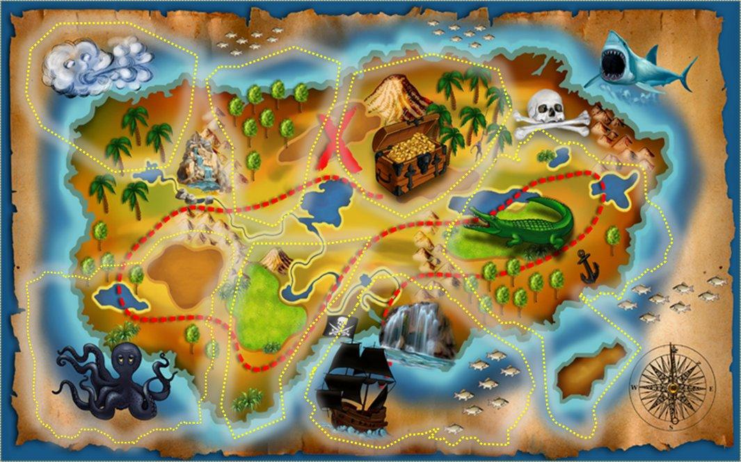 карта острова сокровищ картинки