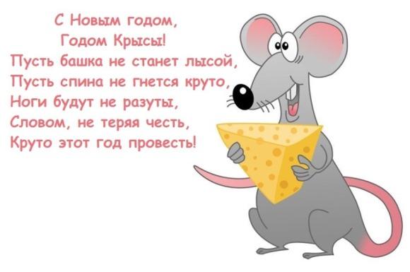 поздравления рожденным в год крысы на Новый Год 2020
