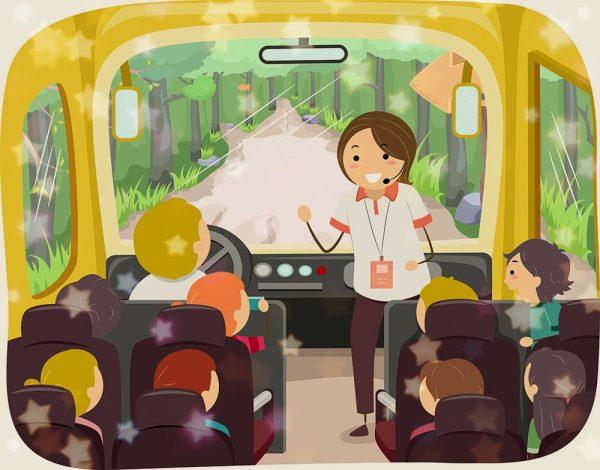 Сценарий развлечений за столом не вставая с мест, или в автобусе