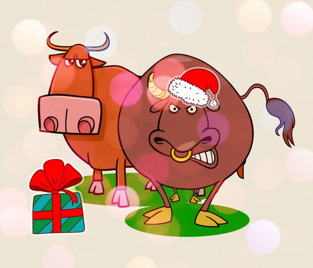 поздравления друзьям на новый год быка