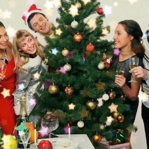 Новогодний сценарий для веселой компании взрослых у елки