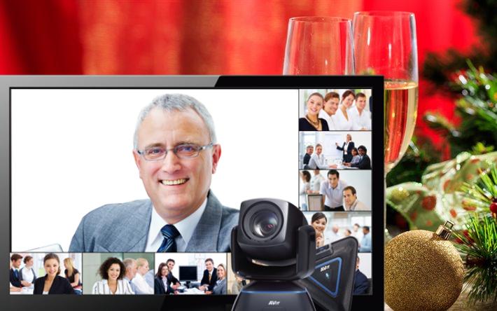 Новый Год с сотрудниками по видеосвязи