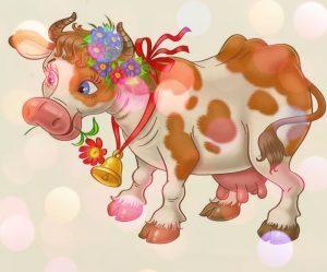 стихи про быков, коров