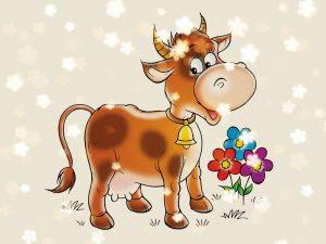 стихи про коровку