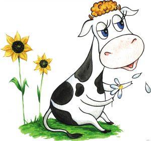 детские стихи про корову и быка