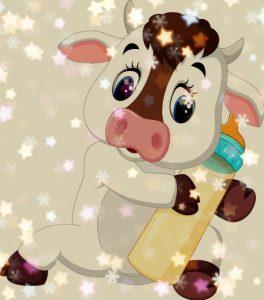 стихи про быков, телят и коров