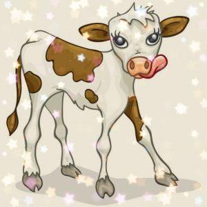 Стихотворения про бычков, телят детям на утренник