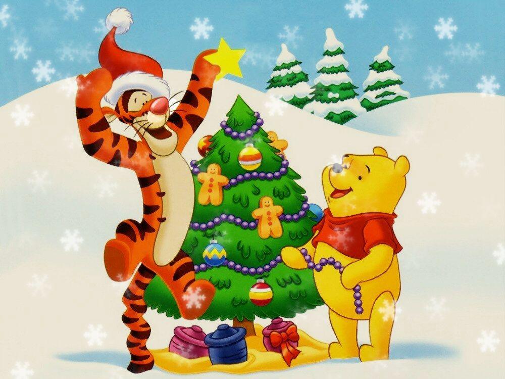Сценарий новогоднего утренника - Винни Пух и Тигруля