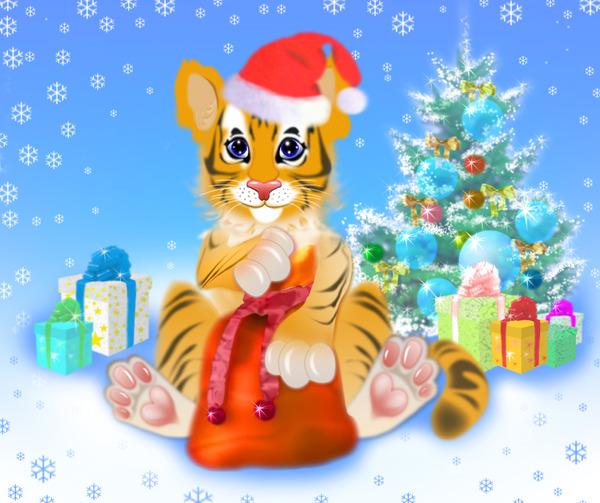 сказка новогодняя с тигренком