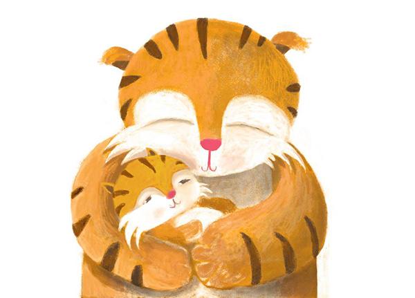 тигренок с тигрицей