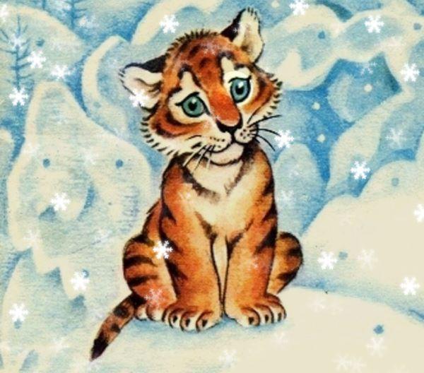 Новогодний спектакль детям с участием тигренка