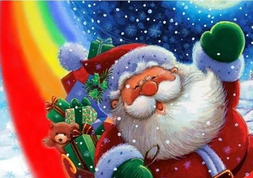 Сценарий Нового Года дома - Новогодняя радуга